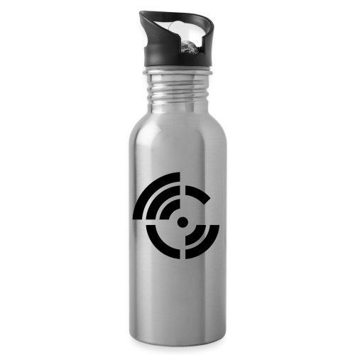 electroradio.fm logo - Water bottle with straw