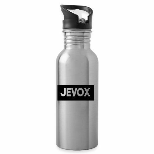 Jevox Black - Drinkfles met geïntegreerd rietje