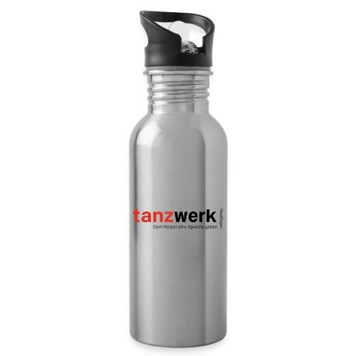 Tanzwerk - Premium Edition schwarz - Trinkflasche mit integriertem Trinkhalm