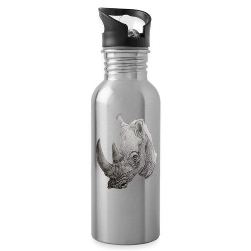 rhino - Drikkeflaske med integreret sugerør