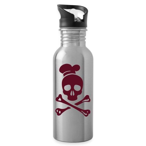 cannibal cook vector - Trinkflasche mit integriertem Trinkhalm