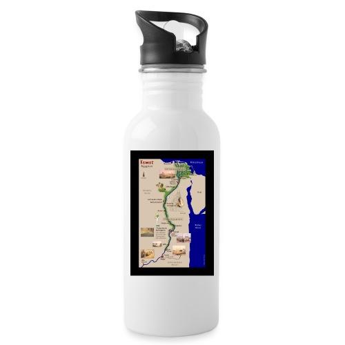 POSTER: Landkarte KEMET (Altes Ägypten) - Trinkflasche mit integriertem Trinkhalm