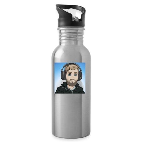 KalzAnimated - Drikkeflaske med integreret sugerør