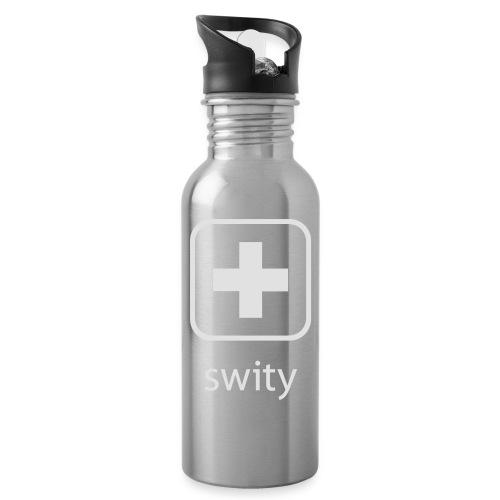Schweizerkreuz-Kappe (swity) - Trinkflasche mit integriertem Trinkhalm