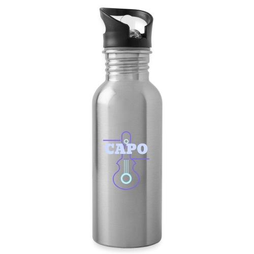 Guitar Capo - Trinkflasche mit integriertem Trinkhalm