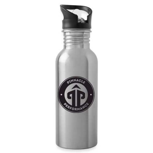 Pinnacle Performance Apparel (Black Logo) - Water bottle with straw