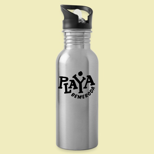 Playa Bemeroda Official - Trinkflasche mit integriertem Trinkhalm