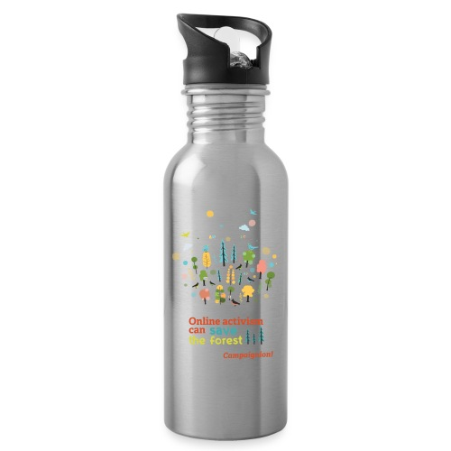 Save the forest - Water bottle with straw