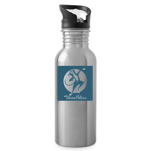 tanzekatze - Trinkflasche mit integriertem Trinkhalm