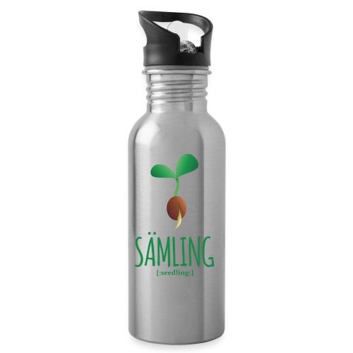 Sämling - Trinkflasche mit integriertem Trinkhalm