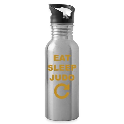 Eat sleep Judo repeat - Bidon z wbudowaną słomką