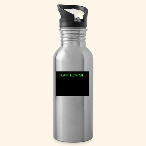 TJOMME logga - Vattenflaska med integrerat sugrör