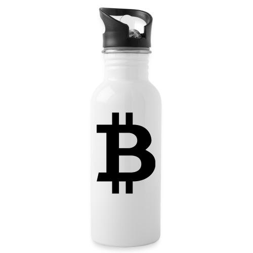 Bitcoin black - Vattenflaska med integrerat sugrör