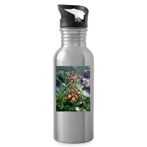 Primel - Trinkflasche mit integriertem Trinkhalm