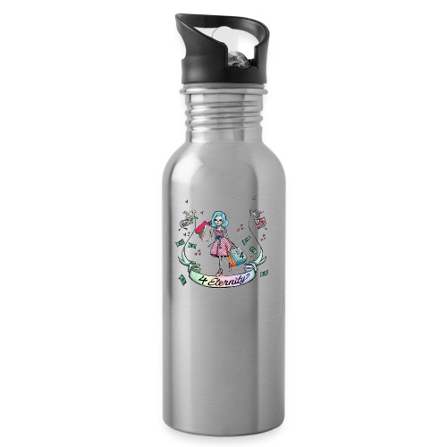 Shopping für immer & ewig - Trinkflasche mit integriertem Trinkhalm