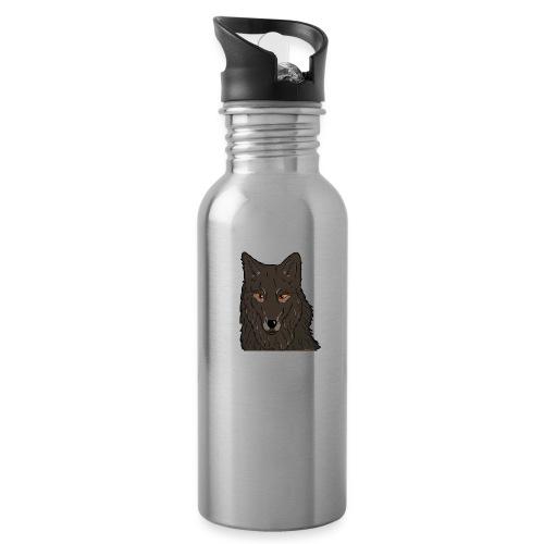 HikingMantis Wolf png - Drikkeflaske med integreret sugerør