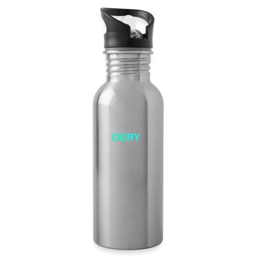 DERY - Trinkflasche mit integriertem Trinkhalm