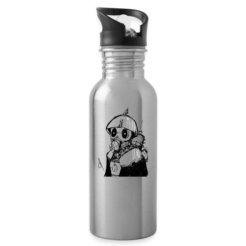 gas man - Botella cantimplora con pajita integrada