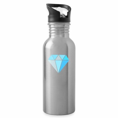 Diamond - Drinkfles met geïntegreerd rietje