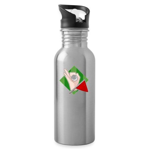 Minigolfgutta Logo - Drikkeflaske med integrert sugerør