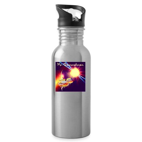 Mr Semmelman Space - Vattenflaska med integrerat sugrör
