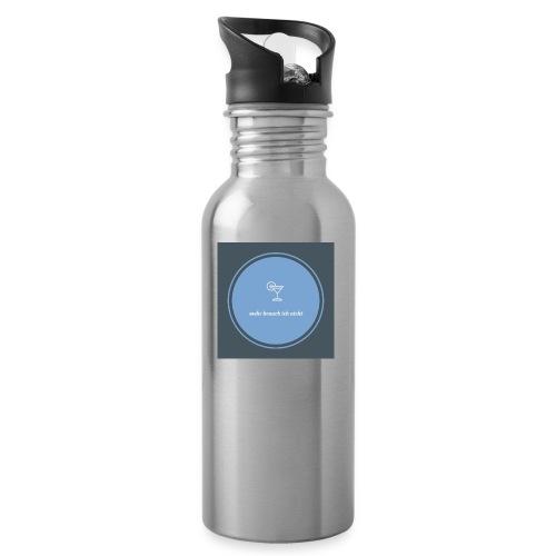 mehr brauch ich nicht - Trinkflasche mit integriertem Trinkhalm
