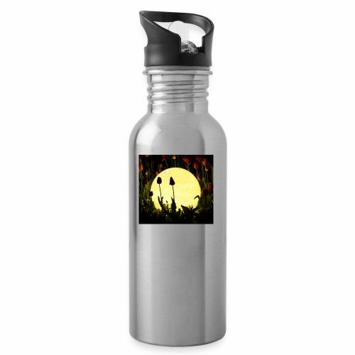 Nachttulpen - Trinkflasche mit integriertem Trinkhalm