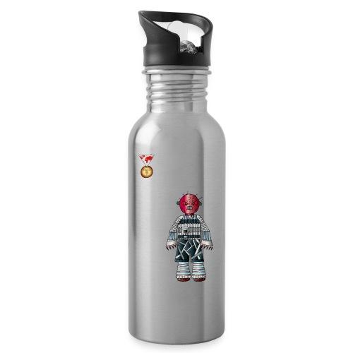 Trashcan - Trinkflasche mit integriertem Trinkhalm