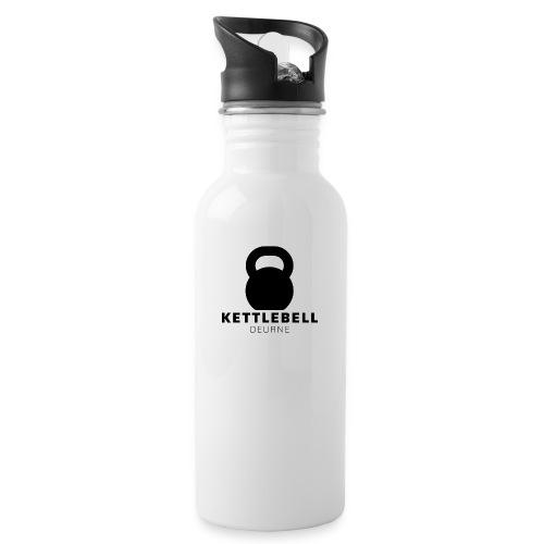 Kettlebell Deurne Logo Zwart - Drinkfles met geïntegreerd rietje