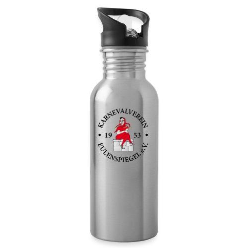 KVE Clubdesign - Trinkflasche mit integriertem Trinkhalm