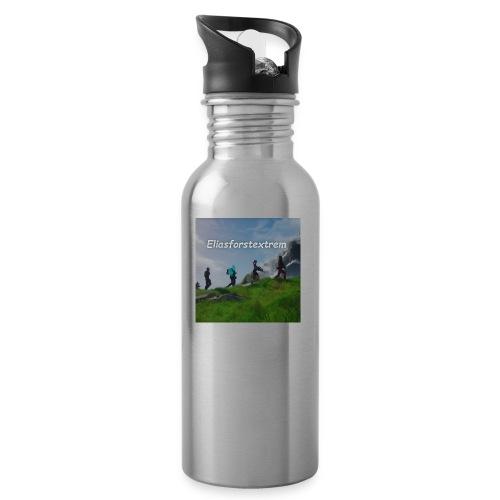 Eliasforstextre - Trinkflasche mit integriertem Trinkhalm