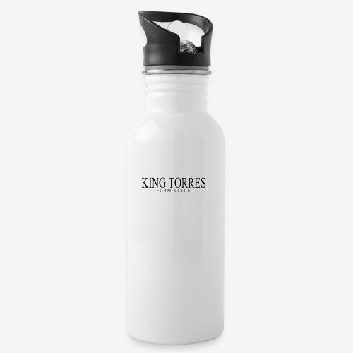 king torres - Botella cantimplora con pajita integrada