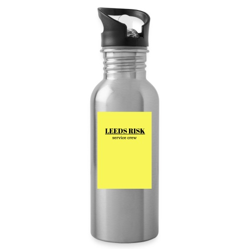 leeds risk - Water bottle with straw