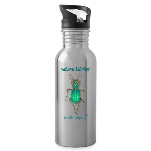 Natural Climber Cicindela - Botella cantimplora con pajita integrada