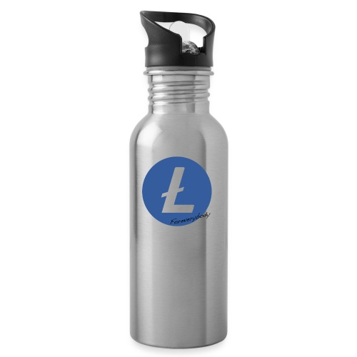 Litecoin Everybody rond - Gourde avec paille intégrée