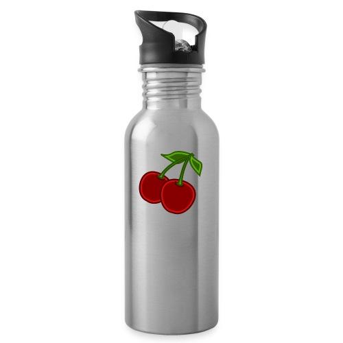 cherry - Bidon z wbudowaną słomką