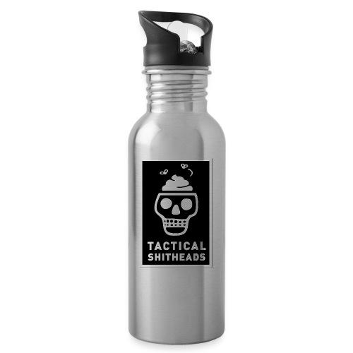 Tacshit Shitheadskull - Trinkflasche mit integriertem Trinkhalm