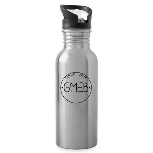 doorschijnend logo ZWART - Drinkfles met geïntegreerd rietje