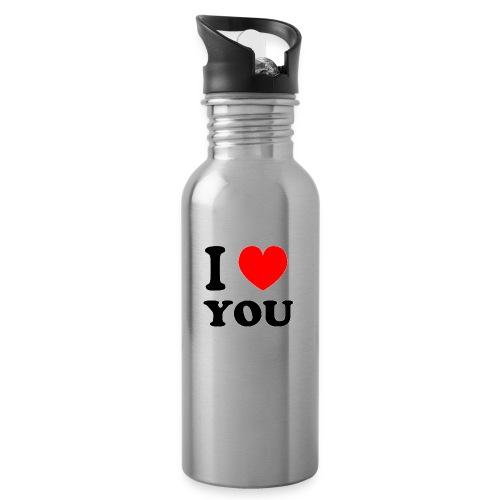 Sweater met i love you - Drinkfles met geïntegreerd rietje