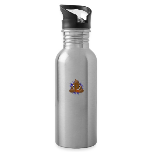 p0op Logo - Drikkeflaske med integreret sugerør