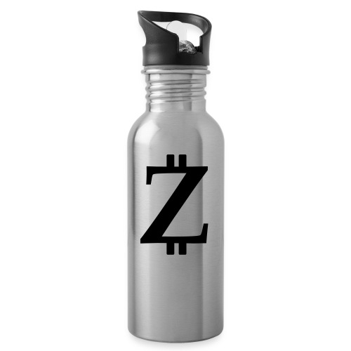 Big Z white - Water bottle with straw