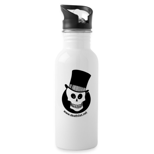 skully vector - Water bottle with straw