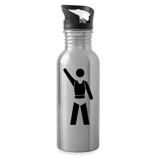 icon - Trinkflasche mit integriertem Trinkhalm