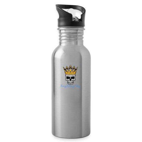 KingKaij Logo - Trinkflasche mit integriertem Trinkhalm