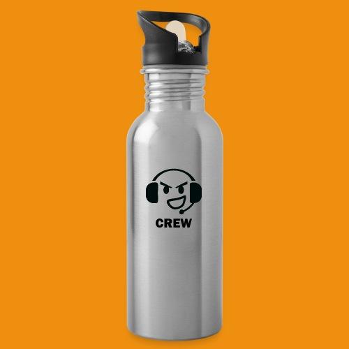 T-shirt-front - Drikkeflaske med integreret sugerør