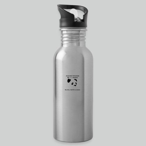 Against Racism Panda - Trinkflasche mit integriertem Trinkhalm