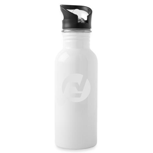 logo blanc - Gourde avec paille intégrée