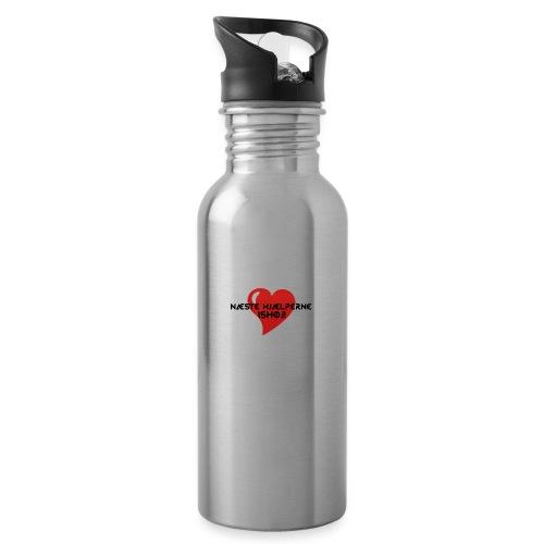 Næste-Hjælperne-Ishøj - Drikkeflaske med integreret sugerør