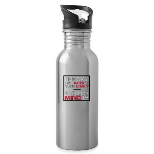 No Limit Mind - Trinkflasche mit integriertem Trinkhalm
