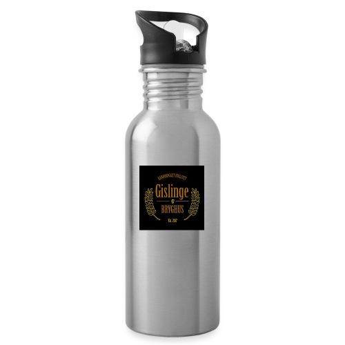 Sort logo 2017 - Drikkeflaske med integreret sugerør